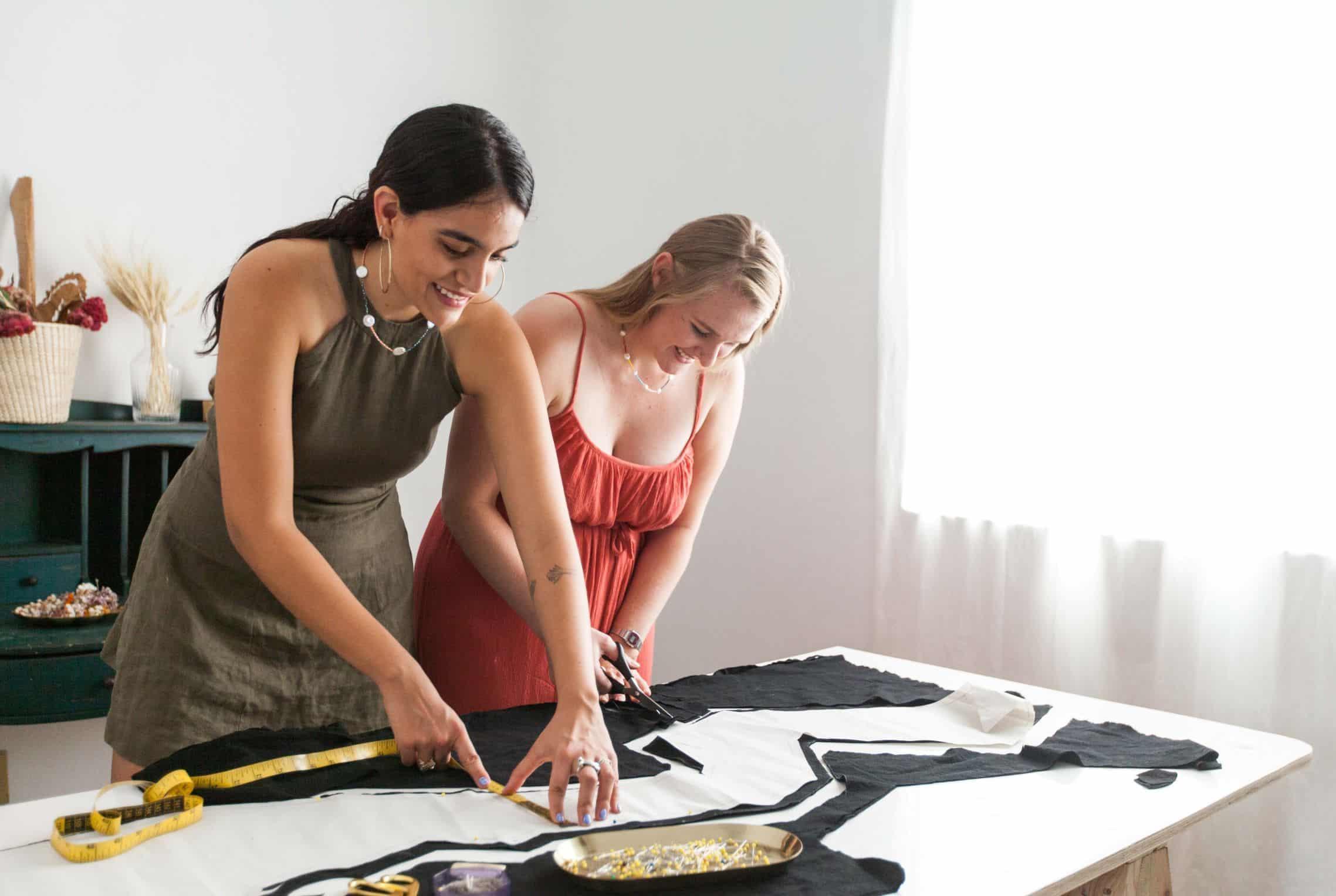 women business fun fashion creating